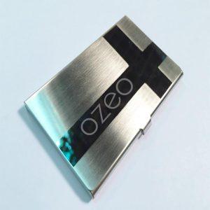 Hộp Name Card Inox  Hoa Văn Hình Chữ Thập  NC062