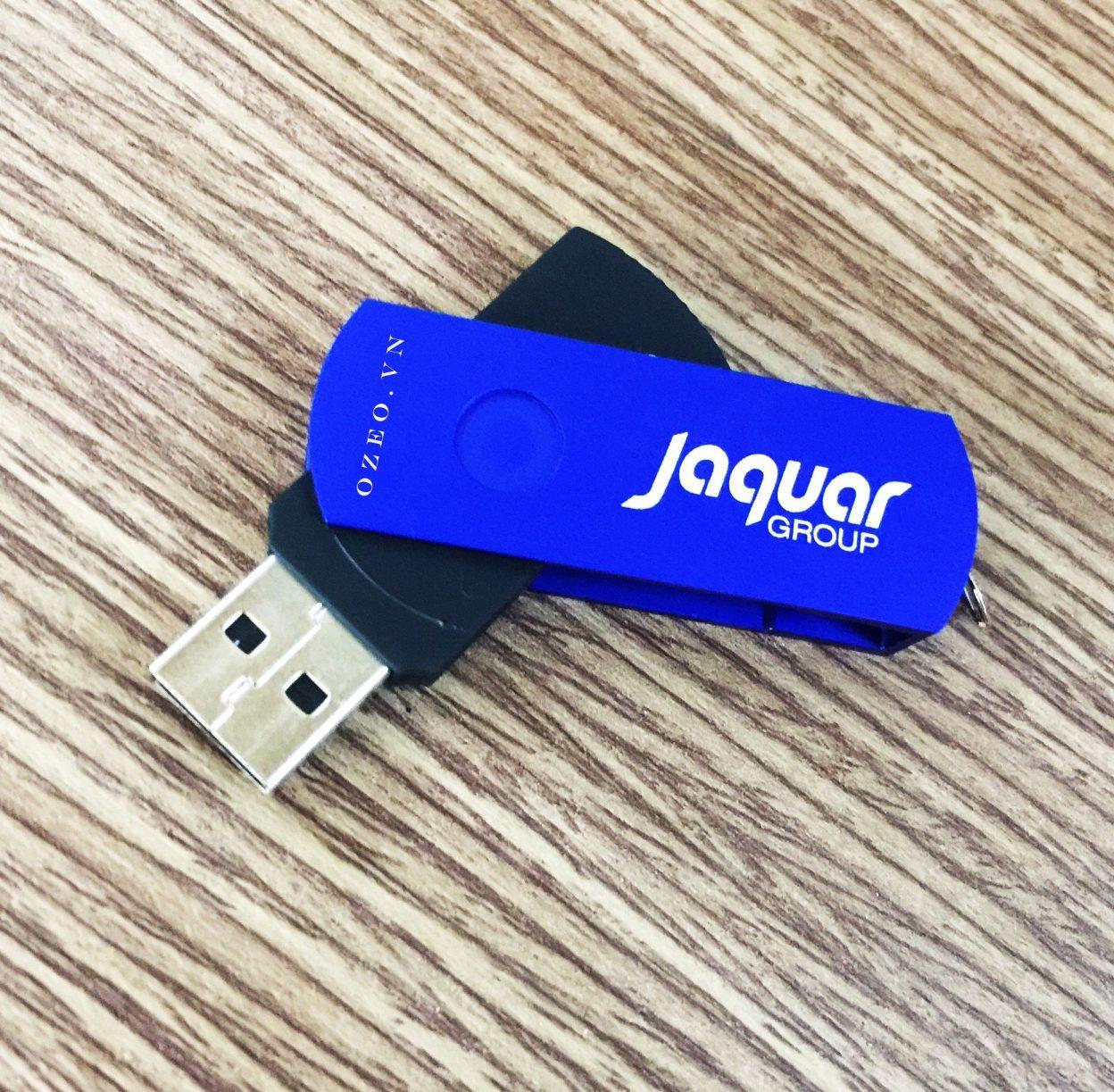 USB kim loại quà tặng khắc Jaquar Group