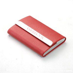 Hộp Namecard Giả Da Simili NC02 Đỏ