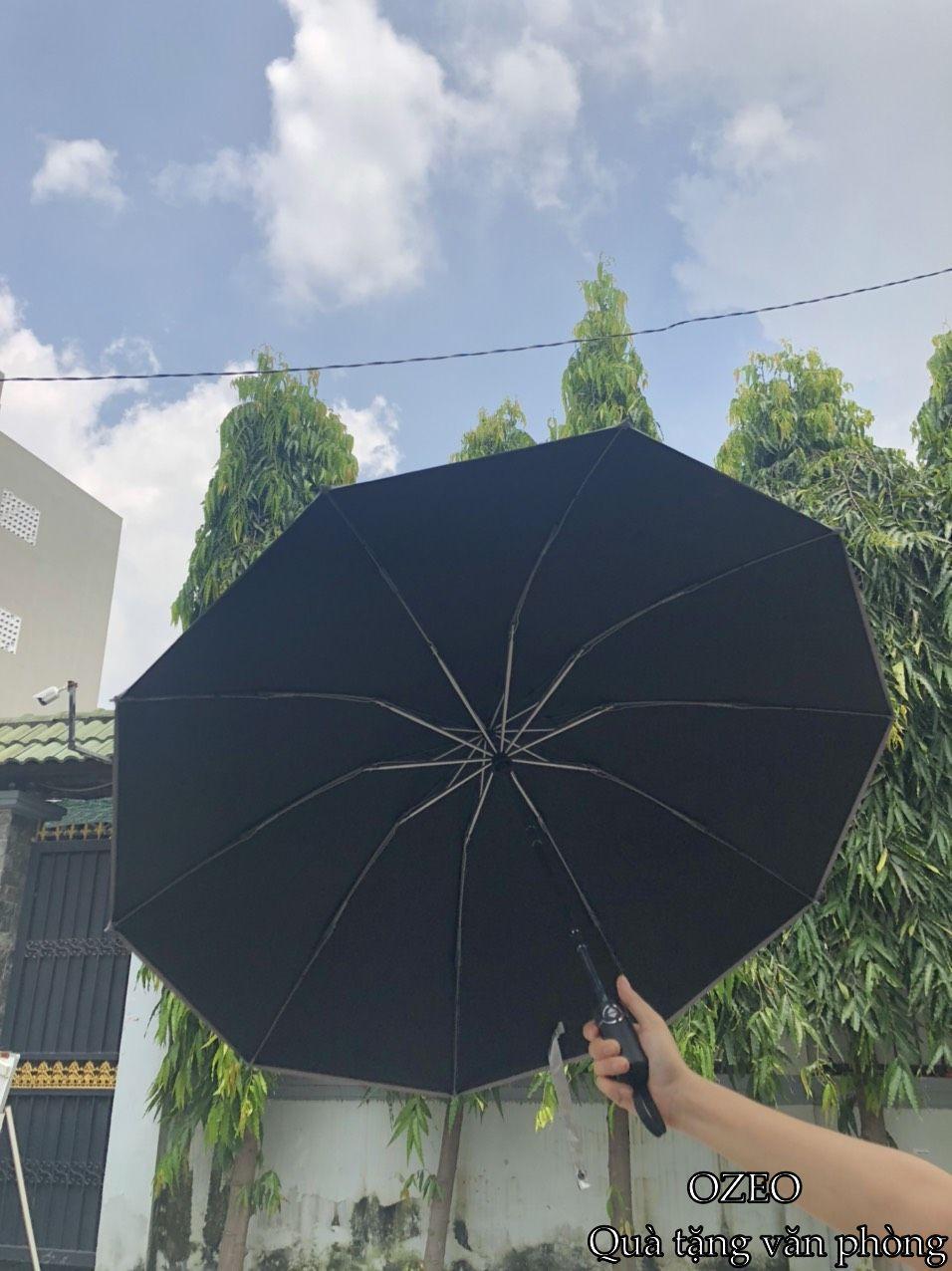 Ô dù cầm tay cao cấp tự động 2 chiều chống tia UV màu đen