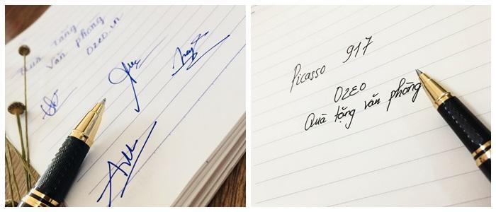 Ngòi bút dạ bi mực nước màu xanh và màu đen của bút ký cao cấp Picasso
