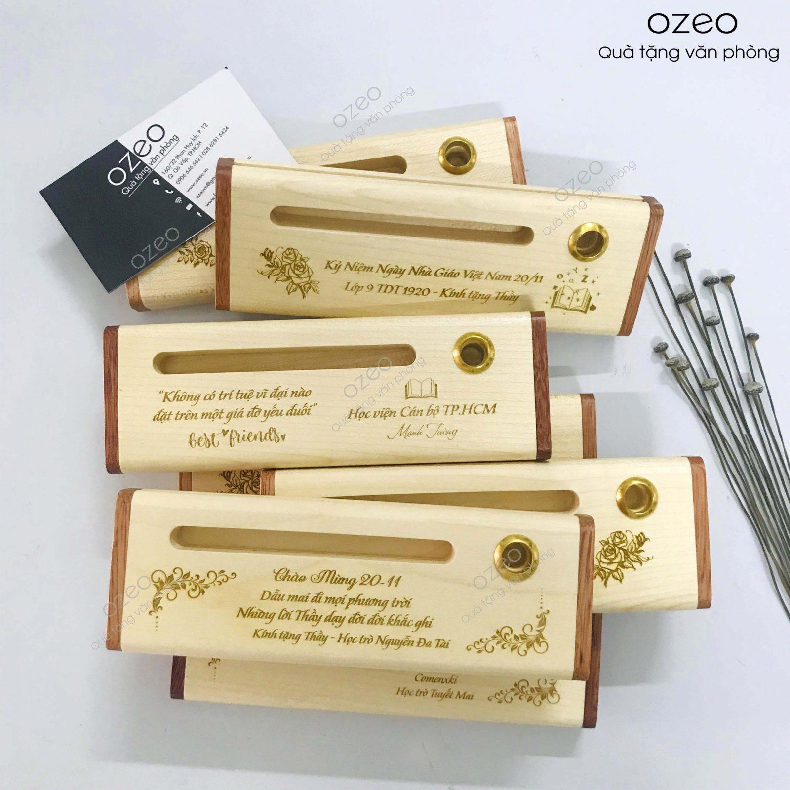Tại sao chọn bút gỗ làm quà tặng thầy cô giáo?