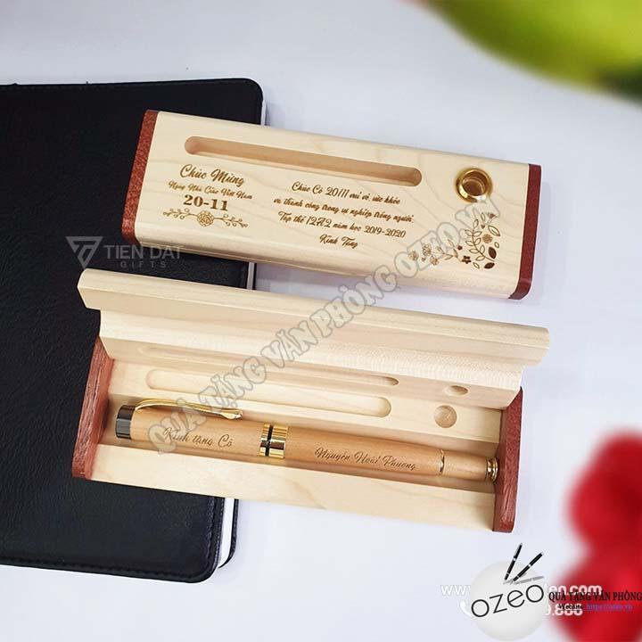 Dễ dàng khắc thông điệp ý nghĩa lên bên trên quà tặng bút gỗ