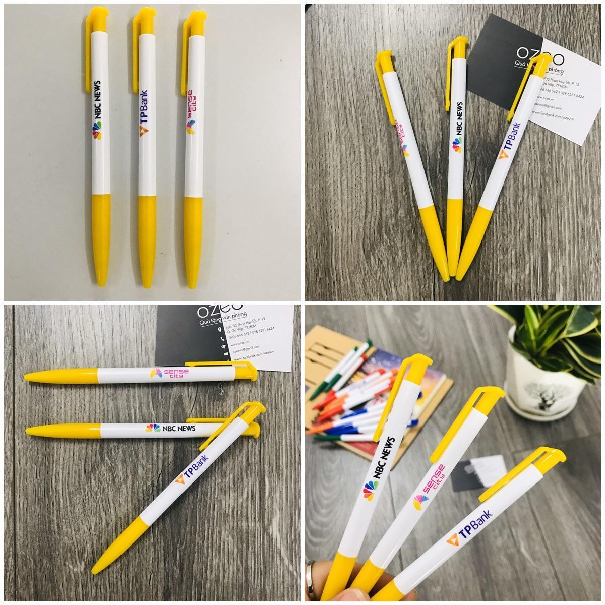 Bút bi quảng cáo Thiên Long màu vàng