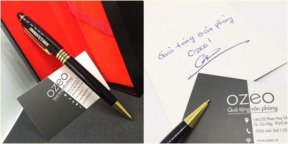 Bút bi kim loại BK041 dạng xoay và mực bi khô