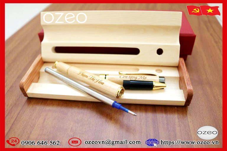 Cấu tạo của bộ bút gỗ khắc tên theo yêu cầu làm quà tặng