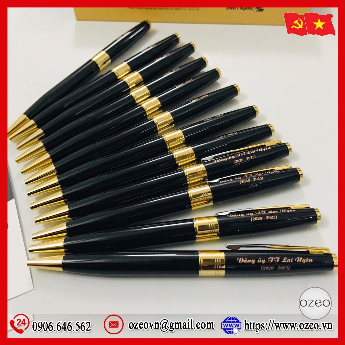 Bút ký cao cấp Thiên Long khắc chữ làm quà tặng Đại hội Đảng TT Lai Uyên