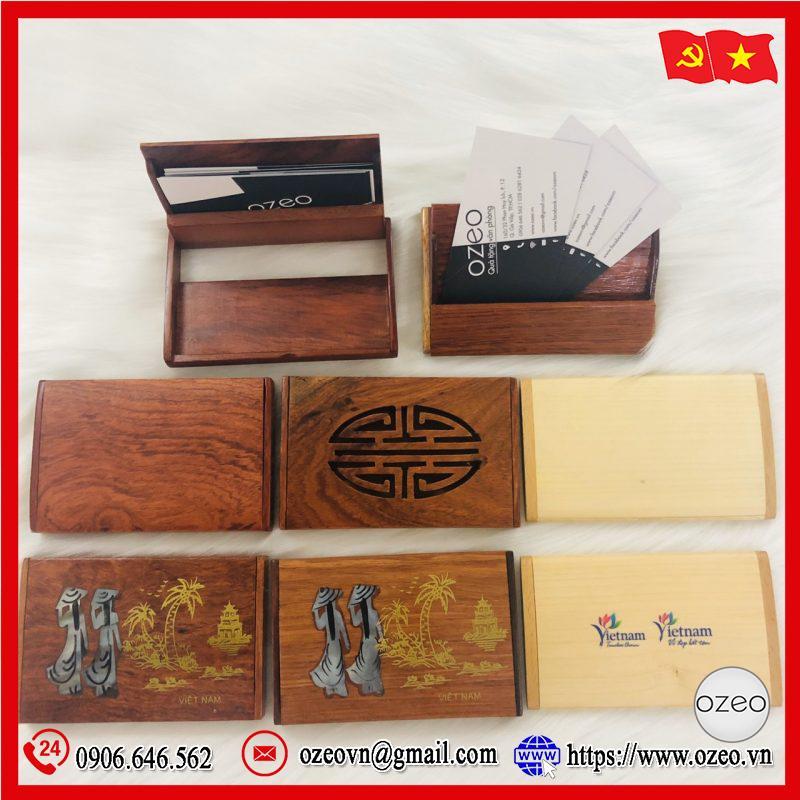 Hộp đựng name card bằng gỗ bỏ túi với nhiều mẫu mã và kiểu dáng độc đáo