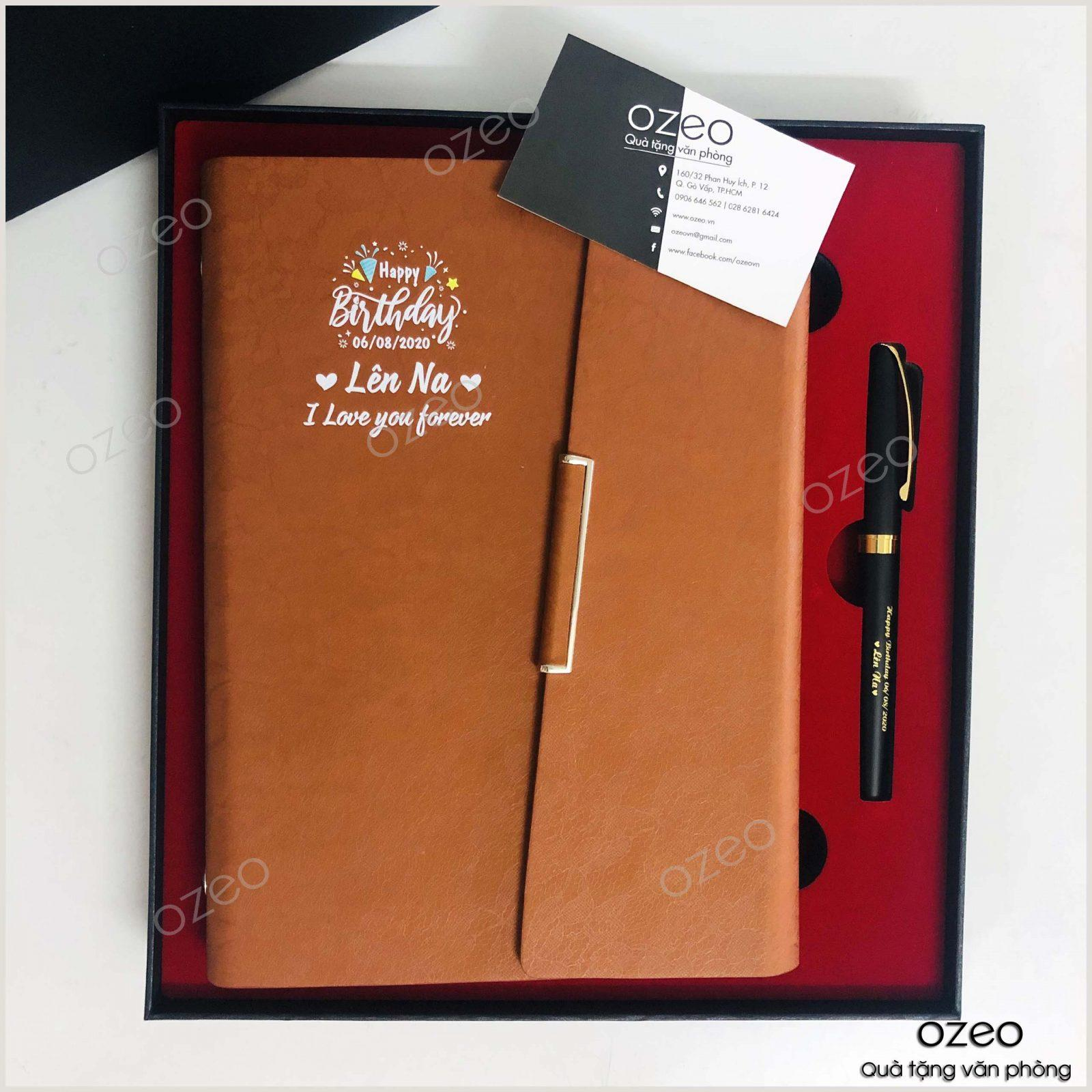 Bộ Giftset sổ tay và bút in hình ảnh, thông điệp theo yêu cầu