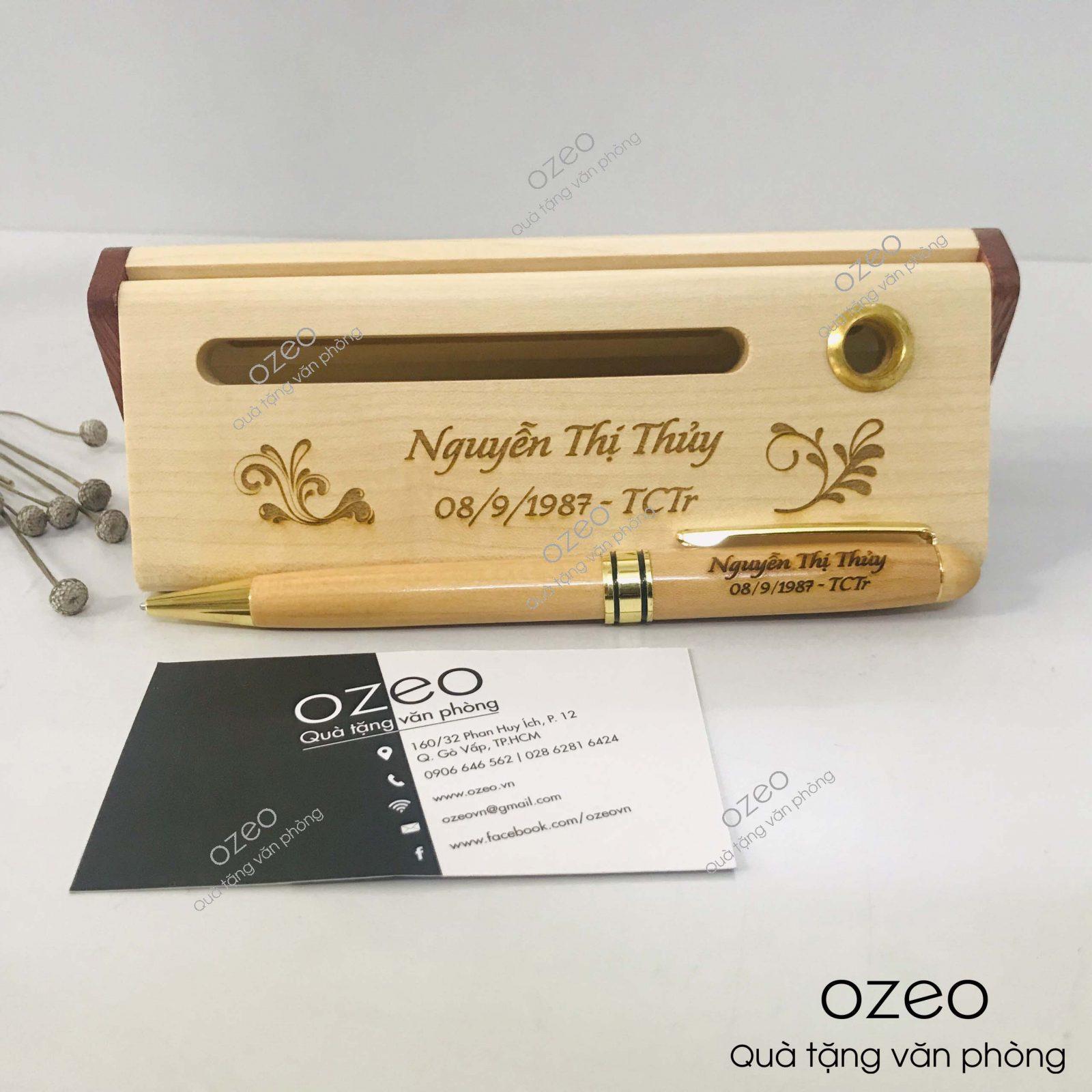 Bút gỗ khắc chữ theo yêu cầu tặng người thân, người yêu, bạn bè, đồng nghiệp.
