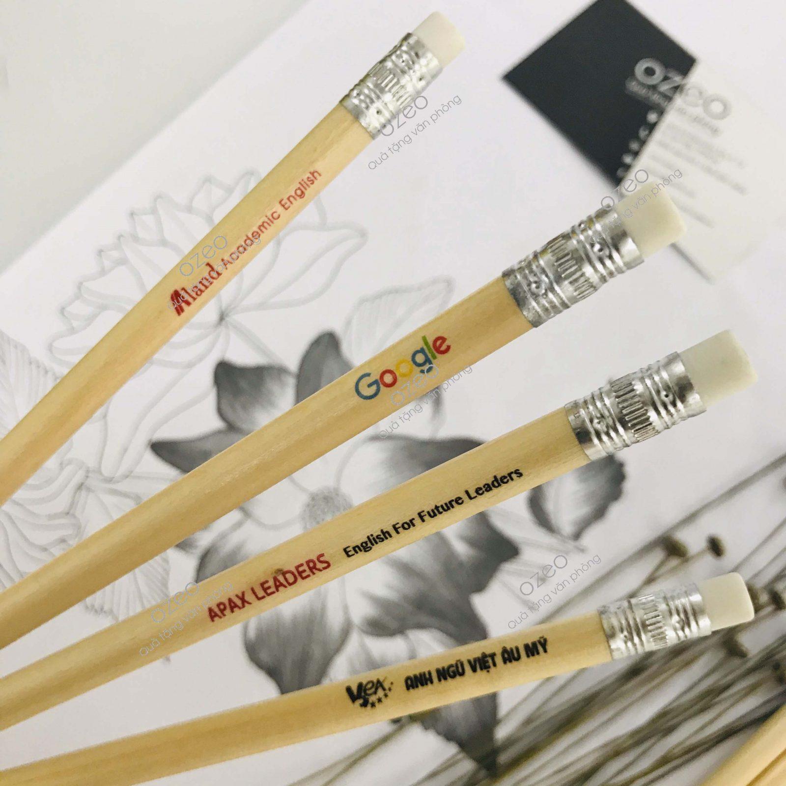 Bút chì gỗ in logo theo yêu cầu chất lượng giá rẻ tại Tp,HCM