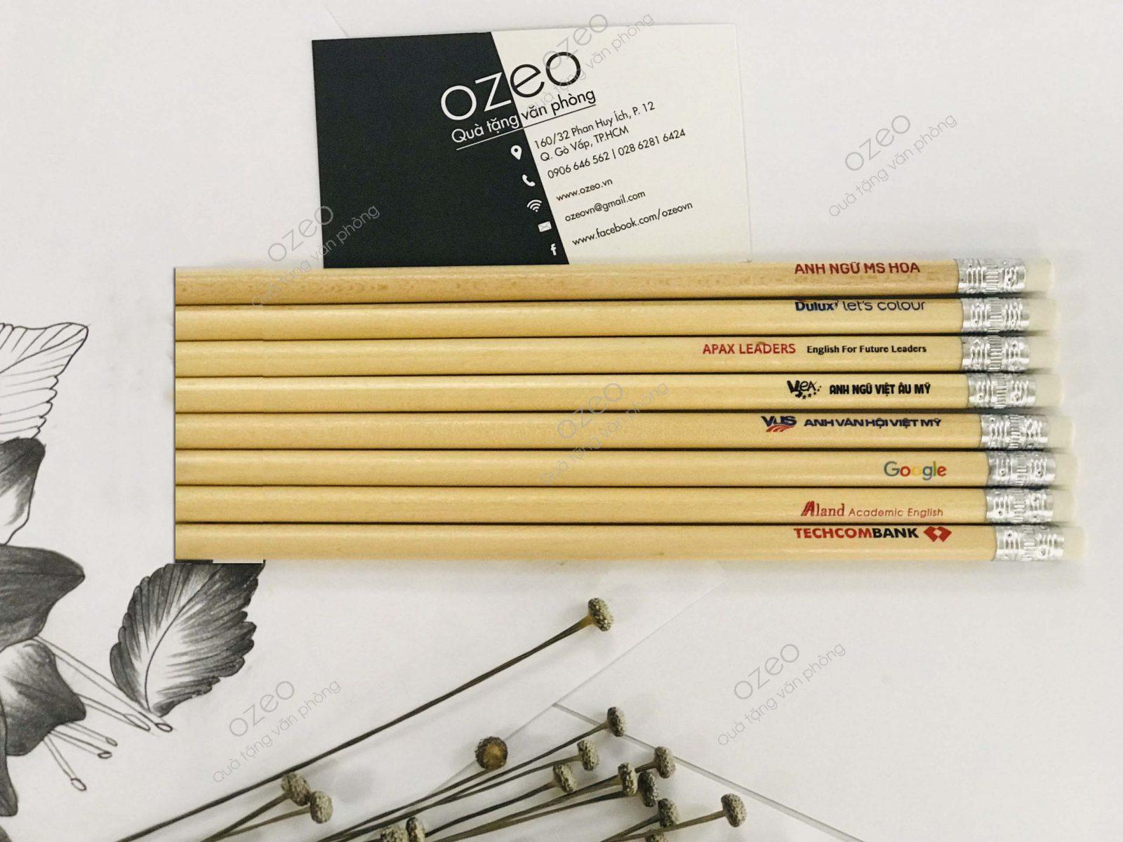 Bút chì quảng cáo, bút chì in logo thân thiện với môi trường.