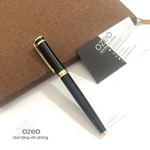 Bút Kim Loại Nắp Đậy Đen Khoen Vàng BK072