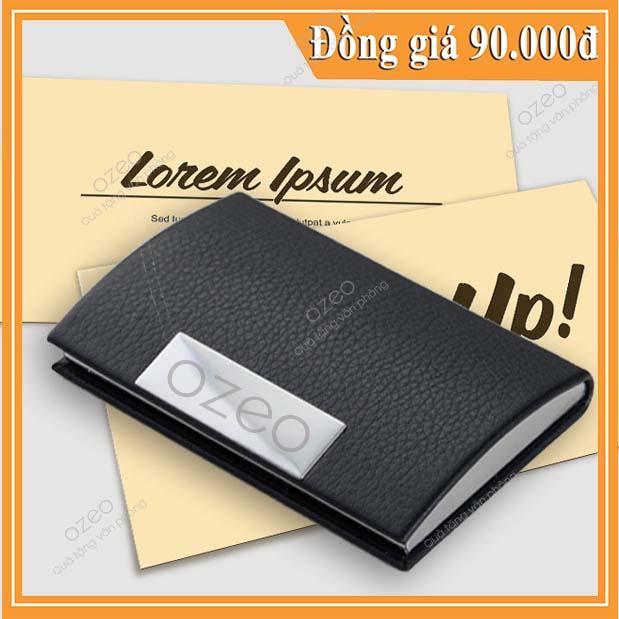 Hộp đựng card visit màu đen dành cho doanh nhân.