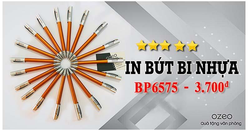 Bút bi nhựa BP6575 màu cam - Giá 3.700đ/c khi đặt số lượng lớn hơn 3000c