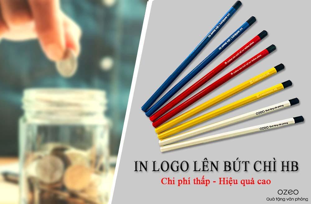 In ấn logo lên bút chì giá rẻ cho doanh nghiệp tại Tp.HCM