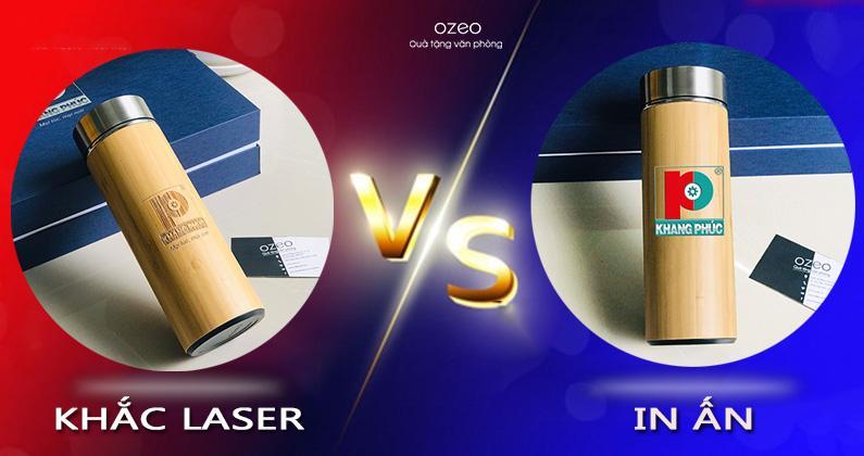 Nên Khắc Laser Hay In Logo/Hình Ảnh Lên Bình Giữ Nhiệt Vỏ Tre?