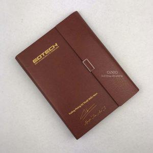 Sổ Tay Bìa Còng A5 Màu Nâu Đỏ – LSA5-01A