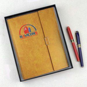 Sổ Tay Bìa Còng A5 Màu Vàng – LSA5-01B